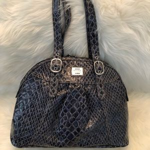 Leather Faux Snake Skin Purse